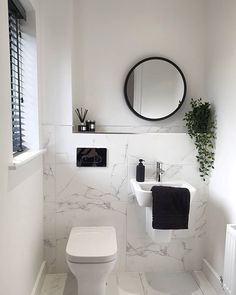 It's Friday 🎉 Hope everyone has a fab weekend in the sunshine ☀️ Let's hope thos weather is here to stay for a few months 🤞 Small Downstairs Toilet, Small Toilet Room, Very Small Bathroom, Tiny Bathrooms, Downstairs Bathroom, Beautiful Bathrooms, Marble Bathrooms, Family Bathroom, Modern Bathroom Design