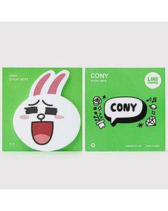 K2POP - LINE BRAND STORE OFFICIAL GOODS : CONY STICKY NOTE I Line Cony, Line Branding, Line Friends, Brand Store, Sticky Notes, My Love