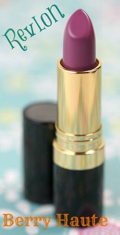 berry colored lipstick | Super Lustrous Lipstick in Berry Haute . I love these Revlon lipsticks ...