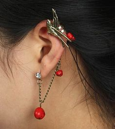 Fashion Unique Swallow Stud Earring