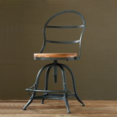 American retro style loft mining iron bar chairs solid wood furniture, cafe chair lift station Diner Bar
