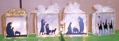 Approaching the Throne of God with Confidence: Vinyl Nativity Glass Block