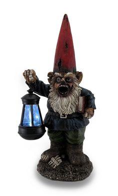 Zombie Gnome Solar Lantern Statue
