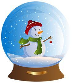 Transparent Snowglobe PNG Clip Art Image | Its Christmas !!! clip ...