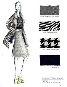 marker project example by Lara Wolf Fashion Design Books, Fashion Design Portfolio, Fashion Design Sketches, Fashion Designing Course, Fashion Drawing Tutorial, Dress Design Drawing, Fashion Illustration Dresses, Fashion Vocabulary, Fashion Figures