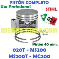 Pistón USO PROFESIONAL STIHL 020, 020T, MS200, MS200T y MC200