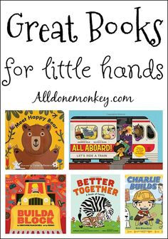 Encourage a love of reading in your little one with these creative new books for little hands, perfect for some snuggly reading time together!