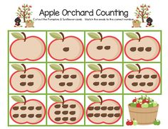 Apple Orchard Counting FREEBIE!  Visit www.littlelearninglane.com for more fun ideas & free printables!