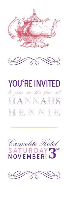 My Hen Night invitation