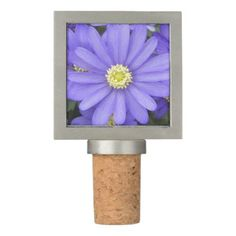 Purple Anemones Floral Wine Stopper - spring gifts beautiful diy spring time new year