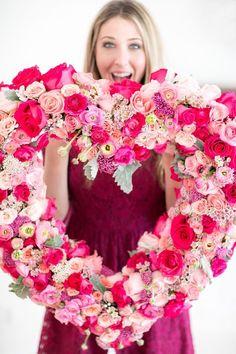 Valentine Flower Wreath