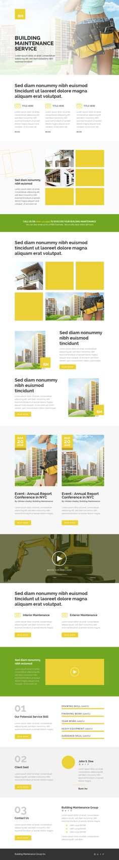 Buy Corporate - Building Maintenance - Responsive Email Templates by ShadiqJayaDesigns on ThemeForest. This templates is responsive email templates for corporate. Responsive Email, Responsive Layout, Aol Mail, Photography Templates, Newsletter Design, Email Templates, Clean Design, Website Template, Minimalist