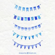 Banderas de fiesta azules