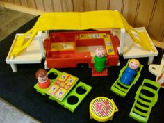 1980 COMPLETE - Fisher Price Play Family Car and camper. I LOVED this thing!
