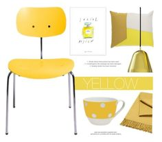 """""""Home Decor In Yellow"""" by lovethesign-eu ❤ liked on Polyvore featuring interior, interiors, interior design, home, home decor, interior decorating, Normann Copenhagen, Nyta, yellow and Home"""