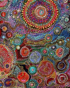 Aboriginal art. Gorgeous. So complex and full of colors.