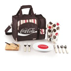 Malibu Picnic Tote with Coca Cola Logo - Moka Collection by Picnic Time