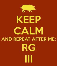 keep calm and repeat after me: RGIII