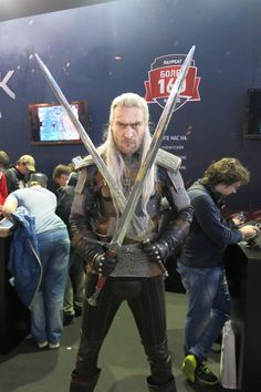 Geralt The Witcher. (This guy has an interesting collection of characters,and outfits!!)