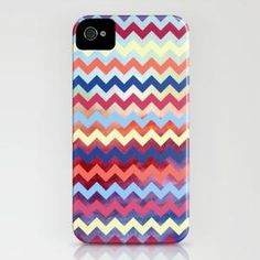 Watercolor Chevron II iPhone Case by Jacqueline Maldonado | Society6