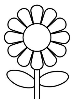 Flower art projects for kids coloring sheets 22 ideas Sunflower Coloring Pages, Printable Flower Coloring Pages, Flower Colouring Pages, Flower Pattern Drawing, Flower Patterns, Drawing Flowers, Painting Flowers, Flower Drawing For Kids, Paper Flowers