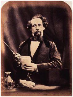 Charles Dickens by (George) Herbert Watkins albumen print, arched top, 29 April 1858.