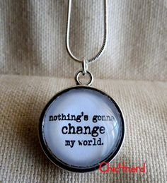 """ciondolo cameo 20mm  The Beatles_Across The Universe """"Nothing's gonna change my world"""" #chic4nerd #pendant #beatles"""