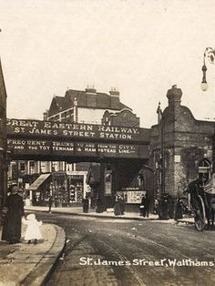 st james street Walthamstow at the the turn of the century. Victorian London, Vintage London, Old London, East London, London History, London Photos, Old Photos, Past, Old Things