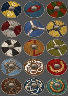Viking shields ~Repinned Via Paul Nethington