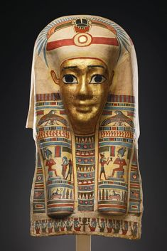 A Mask of a Mummy.   Egypt, Ptolemaic Period, ca. 1st cent. B.C.