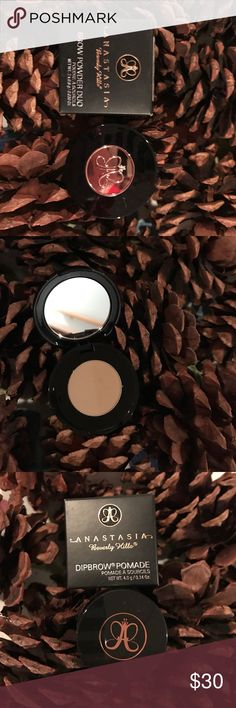 NEW ANASTASIA Blnd Brow Powder Duo/Dipbrow Pomade NEW, Never Used Anastasia Beverly Hills Dipbrow Pomade AND Brow Powder Duo - both BLONDE.  Great value! Anastasia Beverly Hills Makeup Eyebrow Filler