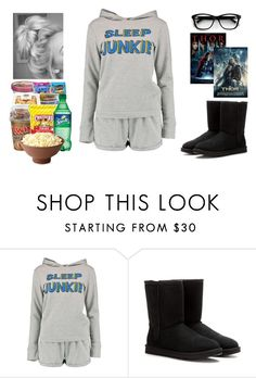 """""""Movie Night #6"""" by teodoramaria98 ❤ liked on Polyvore featuring Boohoo and UGG Australia"""