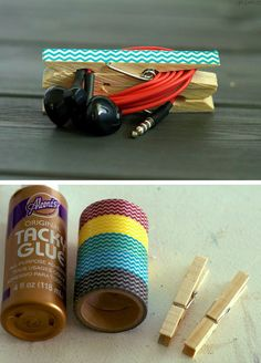 DIY Headphone Clip Organizers | 23 Life Hacks Every Girl Should Know | Easy Organization Ideas for Bedrooms