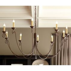 Cosette 10 Lt Chandelier - Overall: 19 X Diameter Ceiling Canopy: Diameter Chain: Construction: Made of metal. Lighting: Uses max candelabra bulbs. Dining Room Light Fixtures, Dining Room Lighting, Home Lighting, Rustic Lighting, Lighting Ideas, Dining Rooms, Dining Table, Copper Lighting, Lighting Solutions