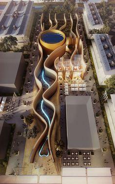 foster partners united arab emirates pavilion 2015 milan expo designboom