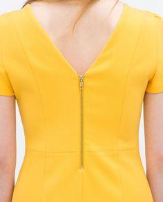 V-NECK DRESS-View all-Dresses-WOMAN   ZARA United Kingdom