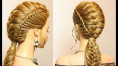 Hairstyles for long hair. Combo braids for party, everyday.