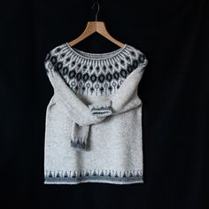This is my Telja ♡ Finally I can share! My first Icelandic sweater ♡ thank you so much Jenn for this wonderful test knit! I'm so happy with it, I love everything about it ♡ The name is beaut. Sweater Knitting Patterns, Knitting Designs, Knitting Stitches, Knitting Yarn, Knitting Sweaters, Knit Stranded, Icelandic Sweaters, Fair Isle Knitting, Knitwear