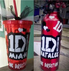 Personalized One Direction Water Bottle or Tumbler