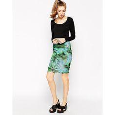 Bill + Mar Jungle Midi Skirt ($12) ❤ liked on Polyvore featuring skirts, multi, high waisted midi skirt, pink high waisted skirt, pink midi skirt, calf length skirts and midi skirt
