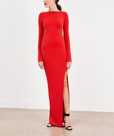 The Bond Dress in Chilli Red