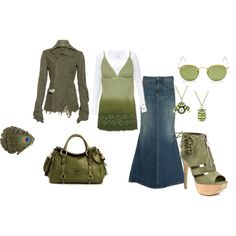 Green, created by heather-581 on Polyvore