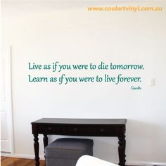 Inspiring Wall Decal Quote - Trendy & Fun