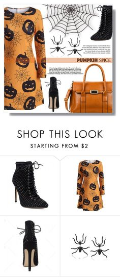 """""""pumpkin spice"""" by fashion-pol ❤ liked on Polyvore featuring vintage"""