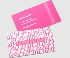 Sandra Alvim Typography Business Card | Best Business Card Inspiration