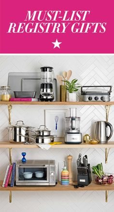 Want to make creating your wedding registry as easy as can be? Check out our roundup of Must-List Registry Gifts for your kitchen. It features the items you won't want to live without from the best brands like Calphalon, kate spade new york, Cuisinart and more. Shop Macy's registry recommended items now!