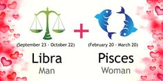 Love match compatibility between Libra man and Pisces woman. Read about the Libra male love relationship with Pisces female.