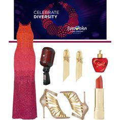 Eurovision Song Contest 2017 by romaosorno on Polyvore featuring moda, Badgley Mischka, Aperlaï and Lolita Lempicka