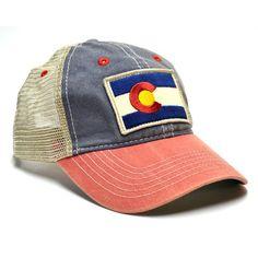 Vintage Series - Adult Colorado Flag Patch Trucker Hat