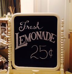 Fresh Lemonade Chalkboard by Dayna Vago Designs Chalkboard Signs, Chalk Board, Lemonade, Fresh, Crafty, Quotes, Shop, Design, Quotations